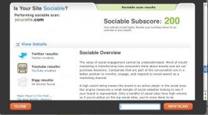 Sociable Score