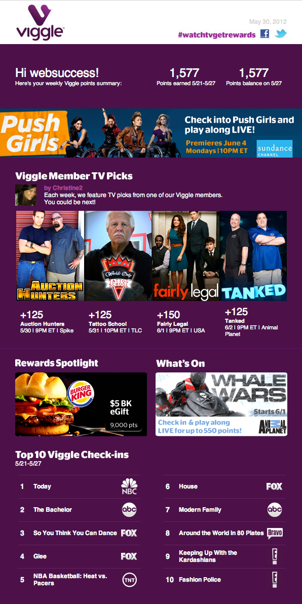 Viggle: The App That Pays You to Watch TV - Web Success Team