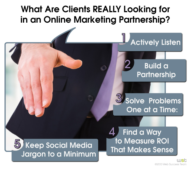 What Clients NEED in an Online Marketing Partnership