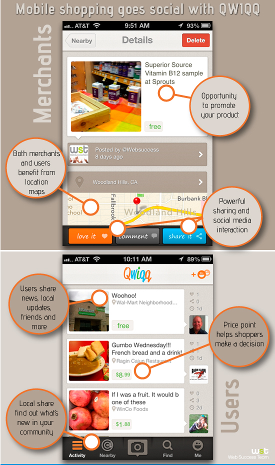 Mobile Shopping Goes Social with QWIQQ