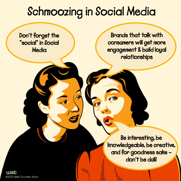 The Business of Schmoozing in Social Media
