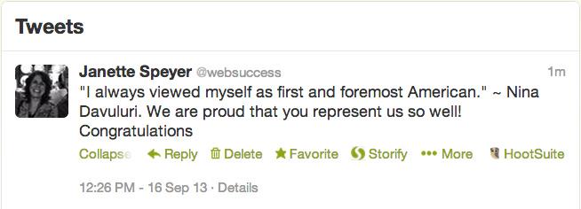Tweet from Websuccess