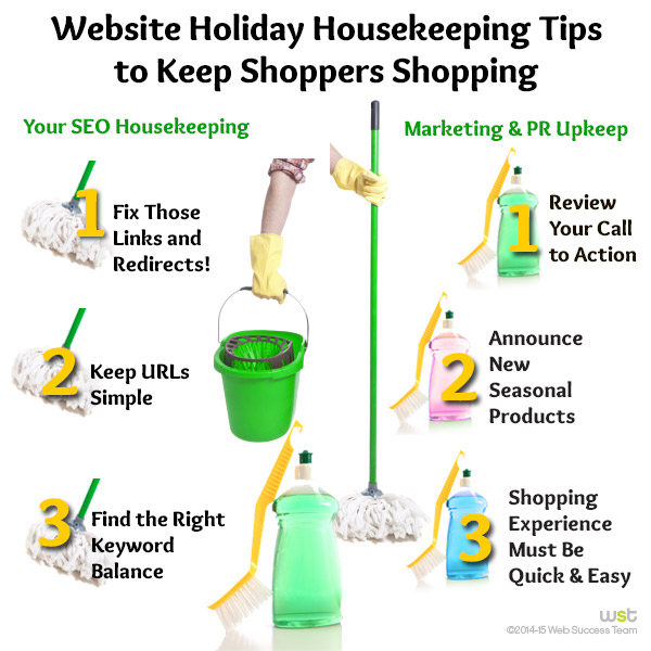 Website Holiday Housekeeping Tips to Keep Shoppers Shopping