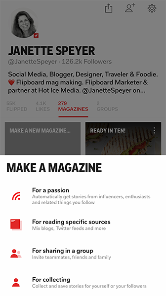 Create a Flipboard magazine