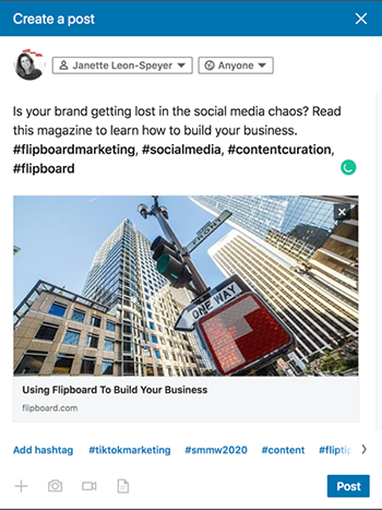 Flipboard LinkedIn Post