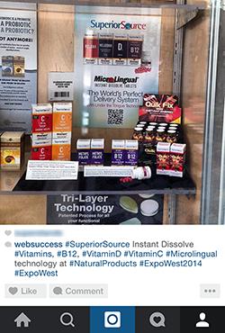 Superior Source Vitamins on display