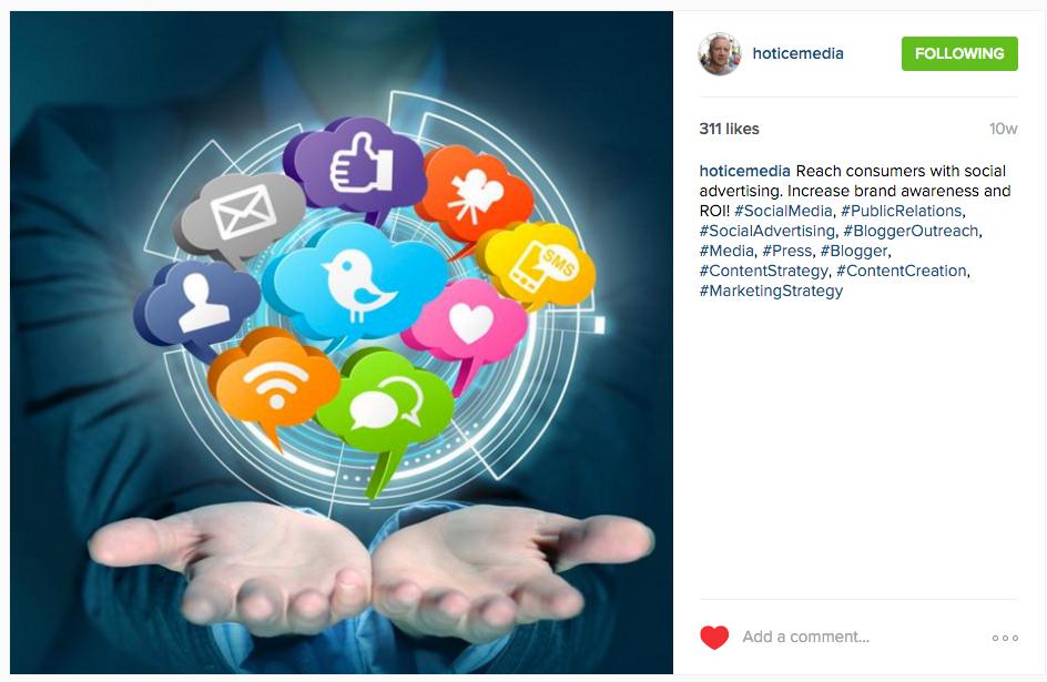 Hot Ice Media Instagram Ad