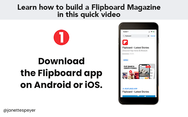 Learn how to build a flipboard magazine
